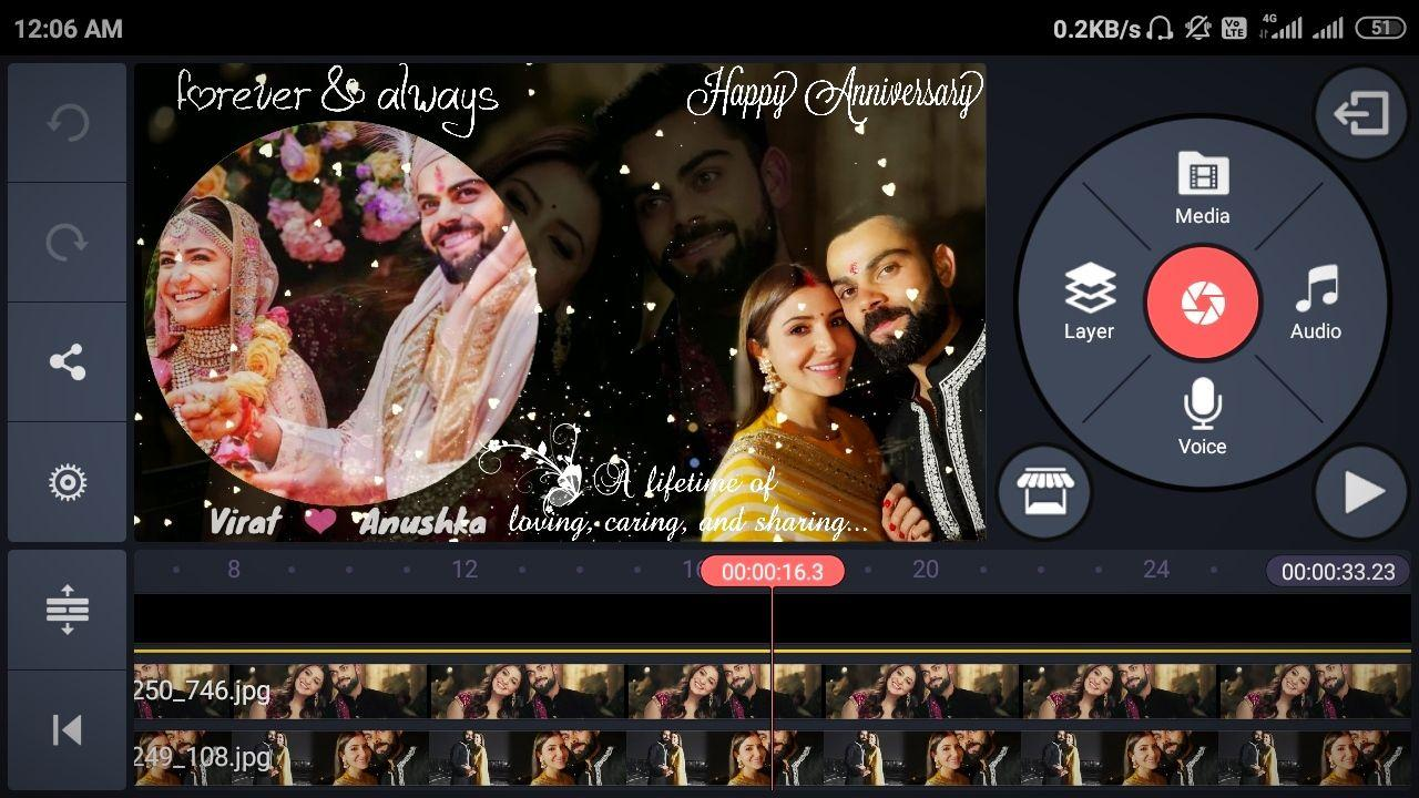Photo of Wedding anniversary video editing By kinemaster |marriage anniversary video Template